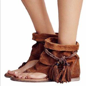 Free People Brown Marlo Boot Sandal